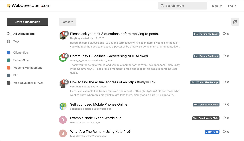 Webdeveloper.com Forum