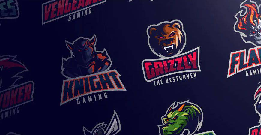 sports Gaming logo creator kit template