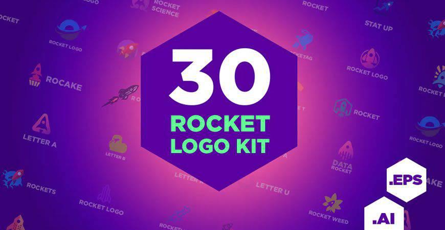 rocket logo creator kit template