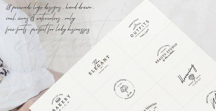 So Female Branding logo creator kit template