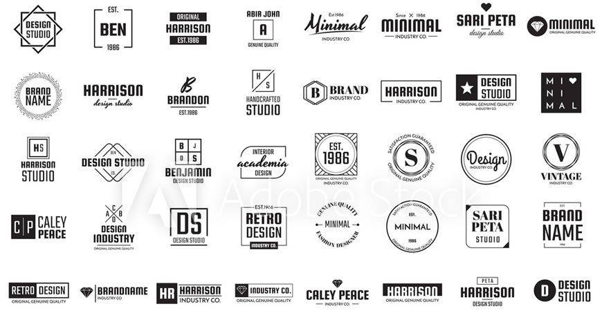 Minimal Logo Template Collection logo creator kit
