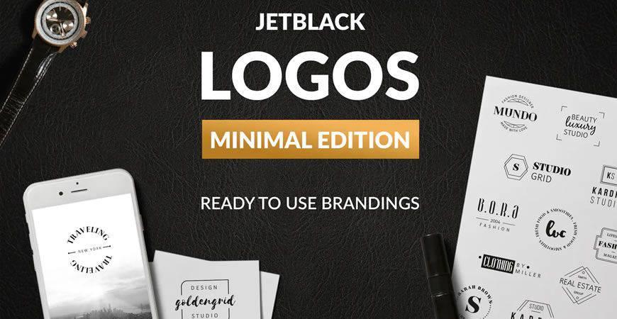 Premade Minimal logo creator kit template