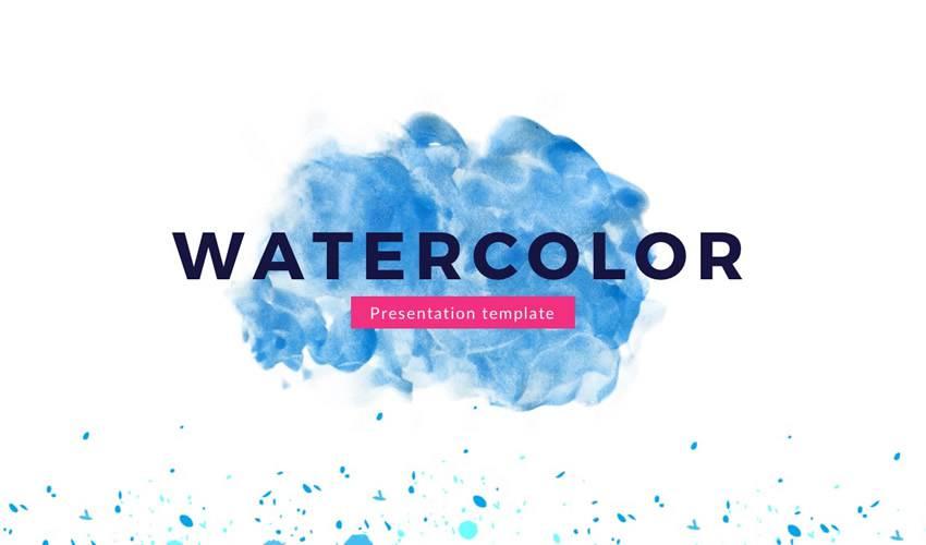 Watercolor google slides theme presentation template free