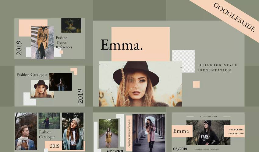 emma google slides theme presentation template