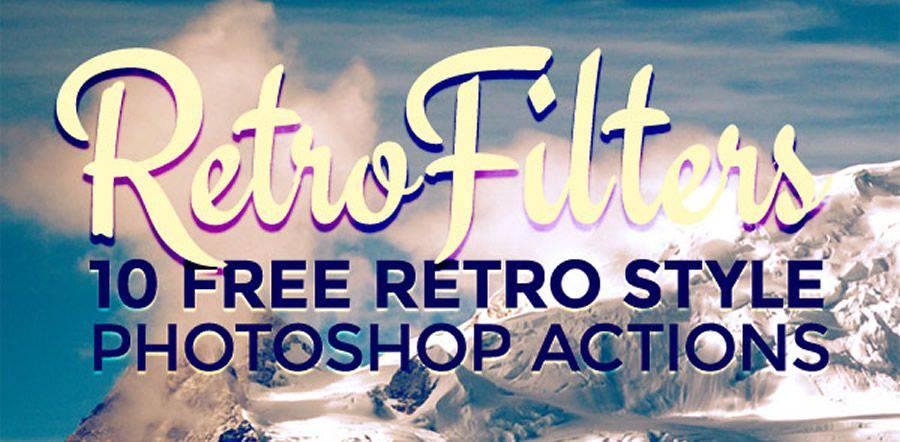Retro Style Photo Effect free photoshop action atn