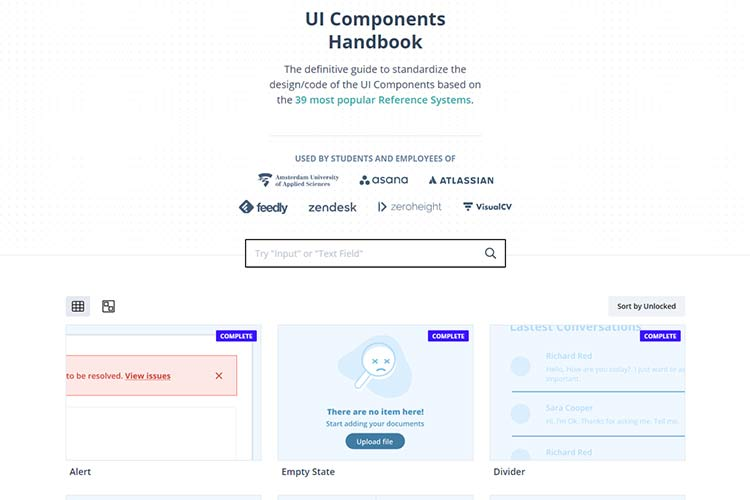 Example from UI Guideline