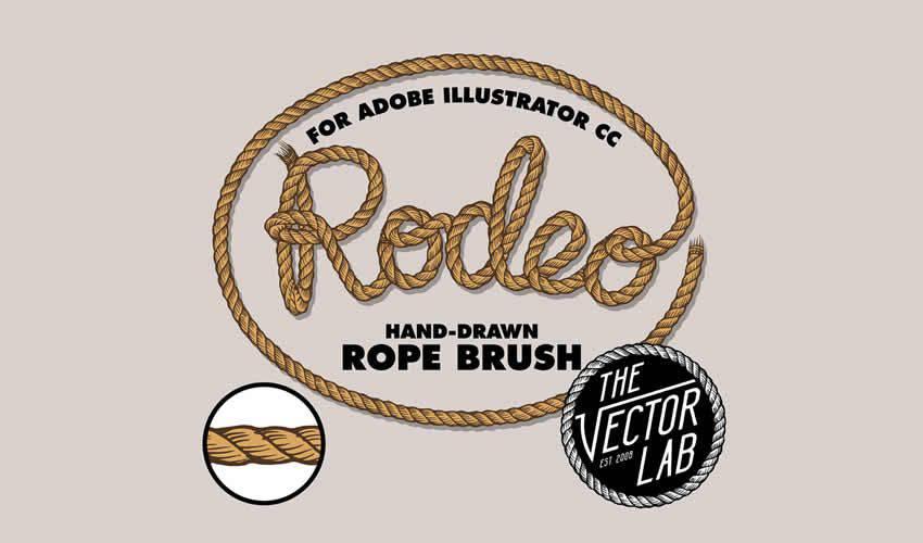 Rodeo Hand Drawn Rope adobe illustrator brush brushes abr pack set free