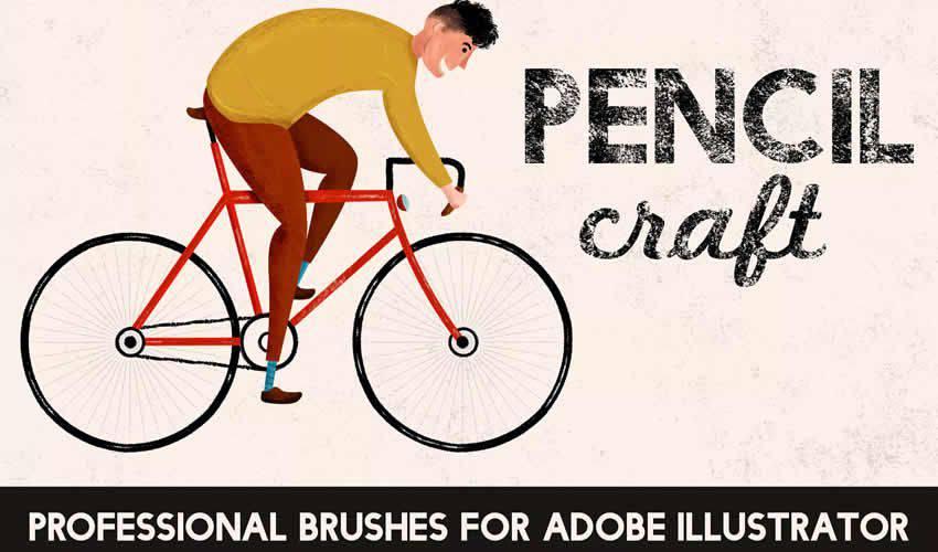 Pencilcraft adobe illustrator brush brushes abr pack set free