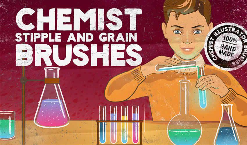 Chemist Stipple Grain adobe illustrator brush brushes abr pack set free