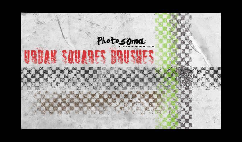 Urban Squares adobe illustrator brush brushes abr pack set free