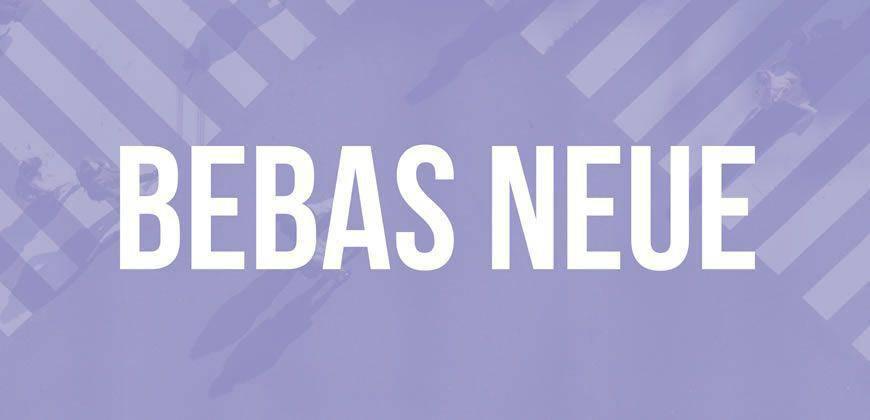 Bebas Neue free clean font typeface