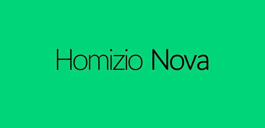 Homizio Nova free clean font typeface