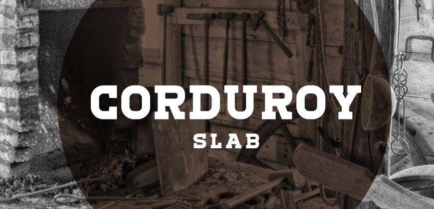 Corduroy Slab free clean font typeface