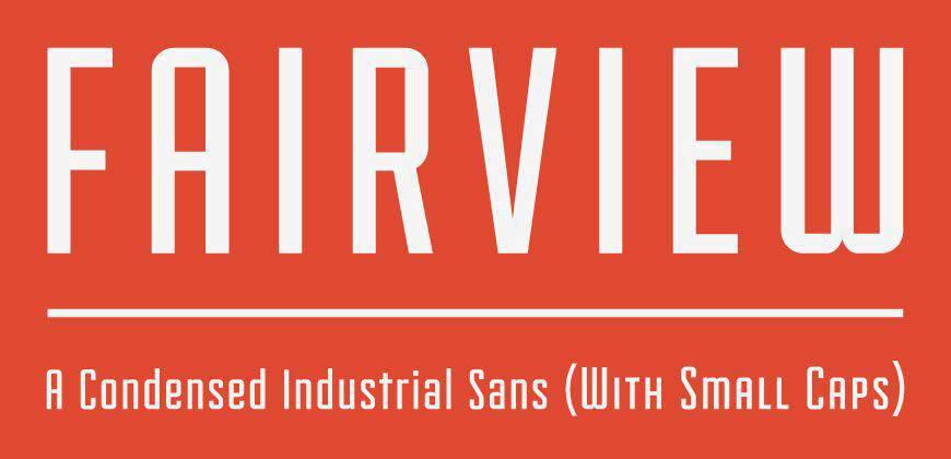 Fairview free clean font typeface
