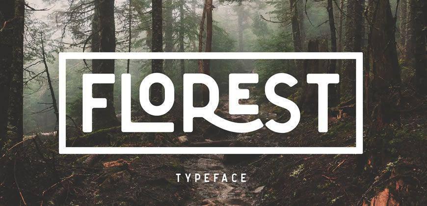 The Florest clean font typeface
