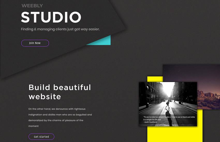 Creative Studio Website web design layout adobe photoshop template psd format