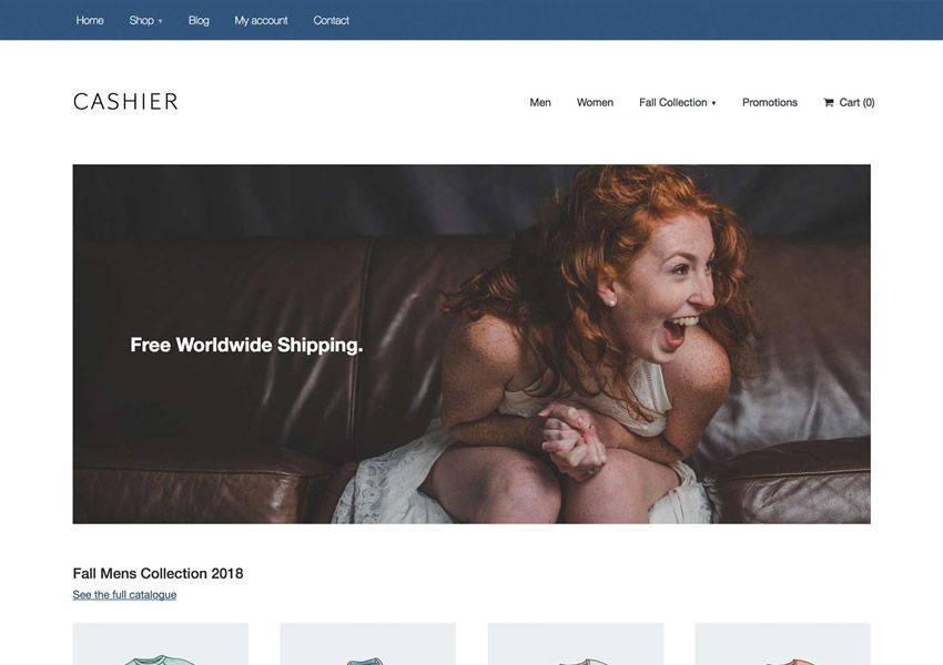 Cashier Starter free wordpress theme wp responsive ecommerce shop woocommerce