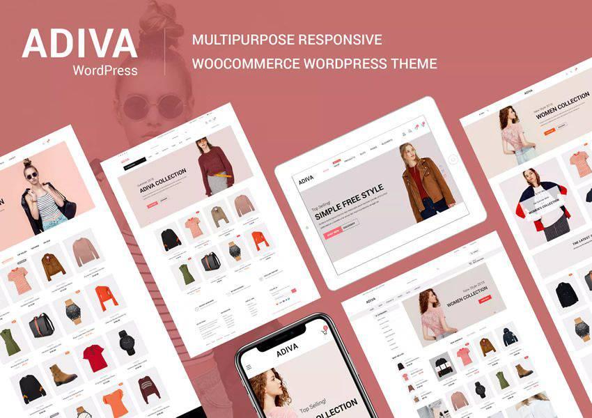 Adiva wordpress theme ecommerce shop woocommerce