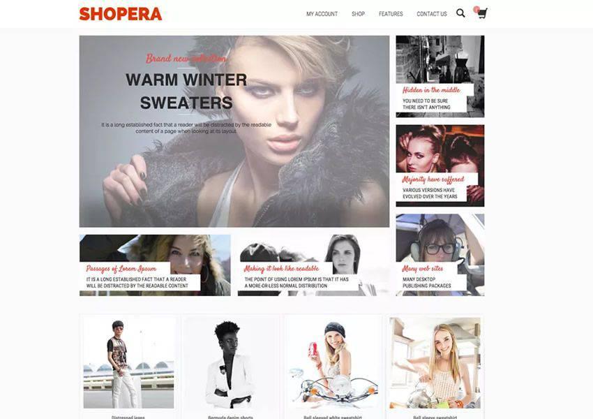 Shopera Customizable free wordpress theme wp responsive ecommerce shop woocommerce