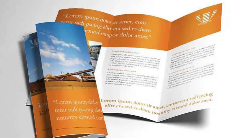 InDesign Industry Trifold Brochure Template