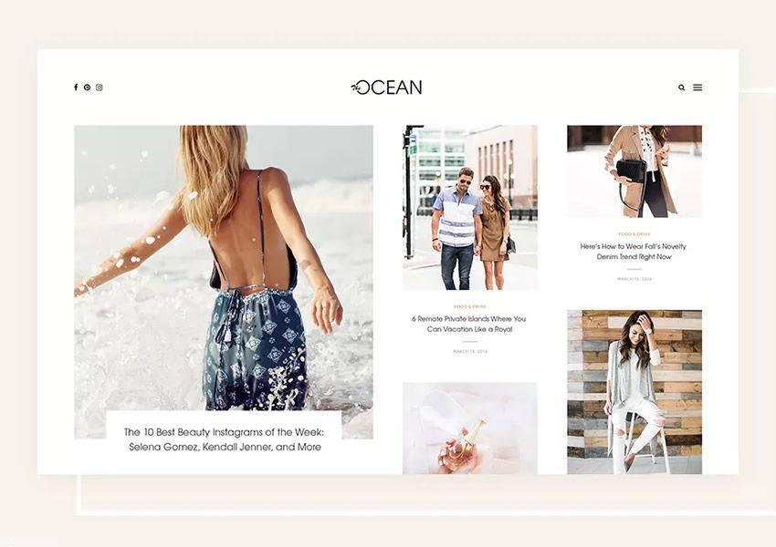 Ocean Exquisite wordpress theme personal blog blogger blogging