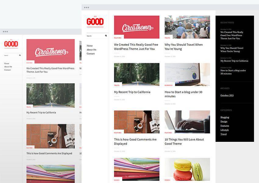 Good free wordpress theme wp responsive personal blog blogger blogging