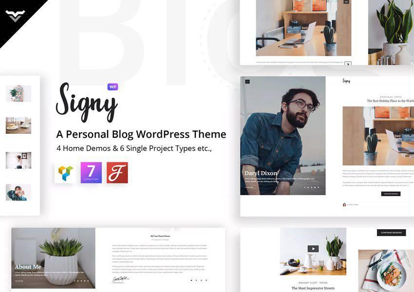 Signy wordpress theme personal blog blogger blogging