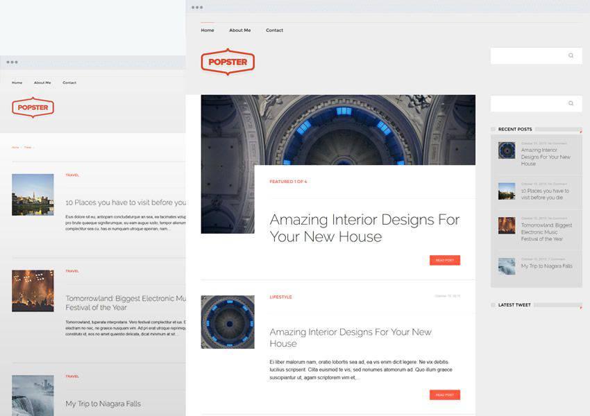 Popster free wordpress theme wp responsive personal blog blogger blogging