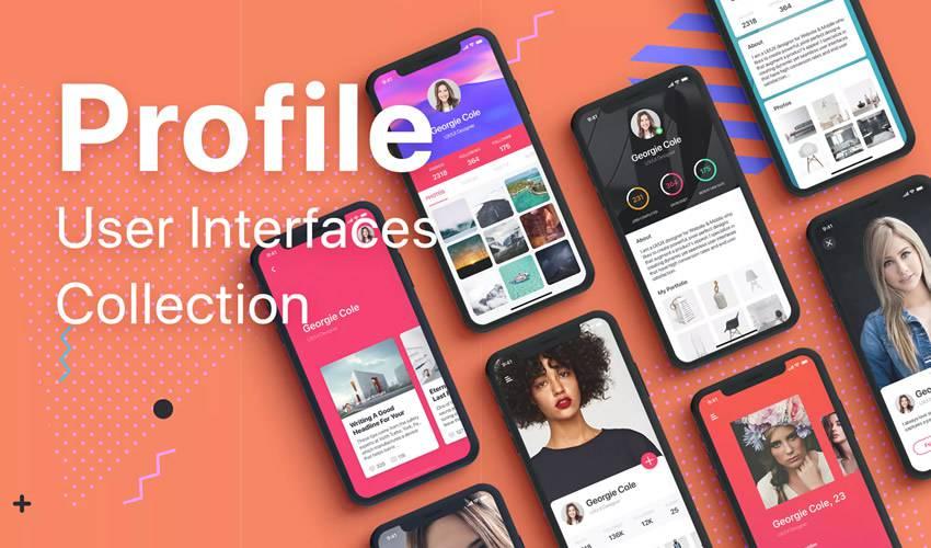 profile collection sketch mobile app ui kit sketch ux format design creative sketch.app
