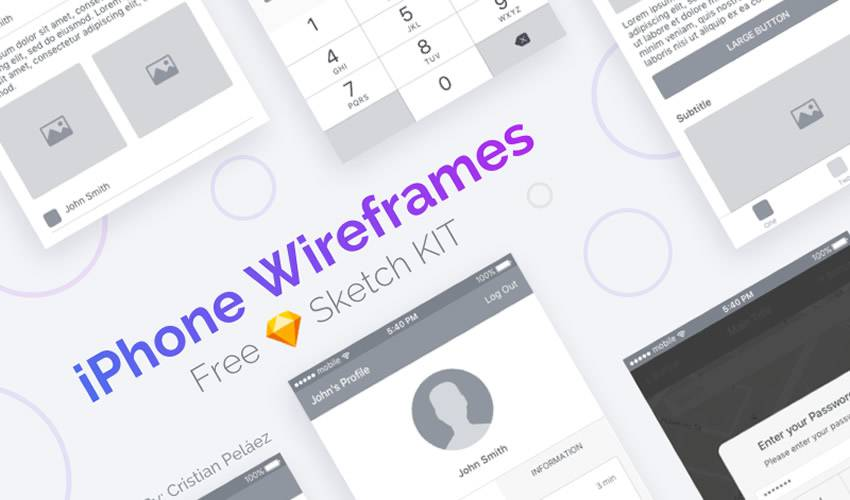 iPhone Wireframe ios sketch mobile app ui kit sketch ux format free design creative sketch.app