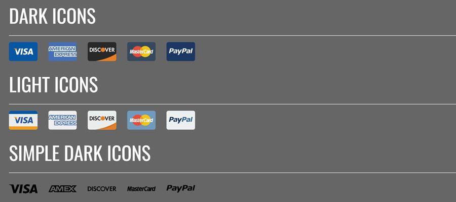 SVG Credit Card Icons Designed free