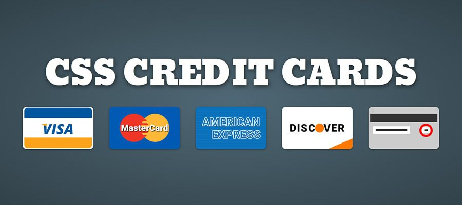Pure CSS Responsive Credit Cards Icons