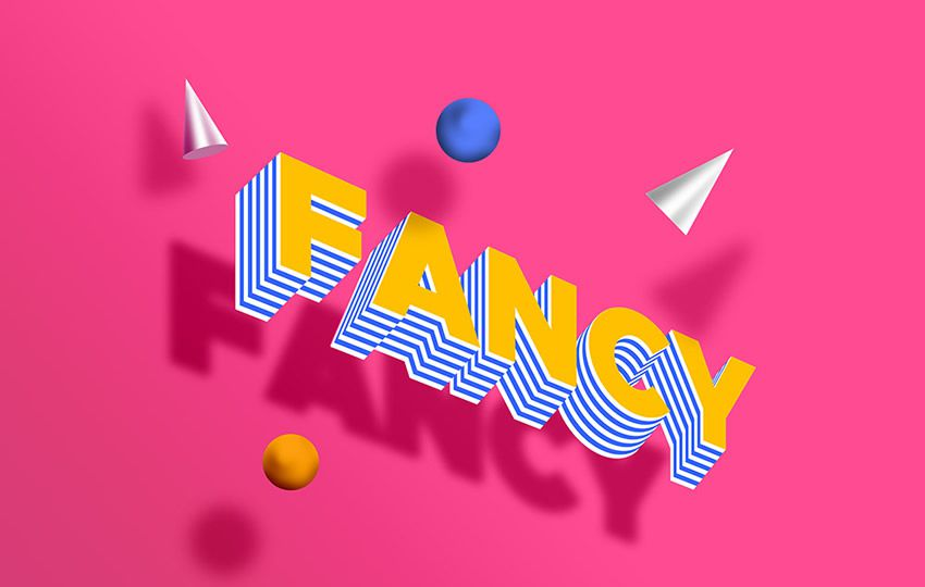 Free Photoshop Layer Styles PSD Fancy Text Effect