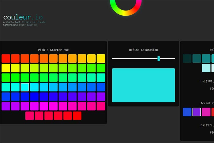 Example from couleur.io