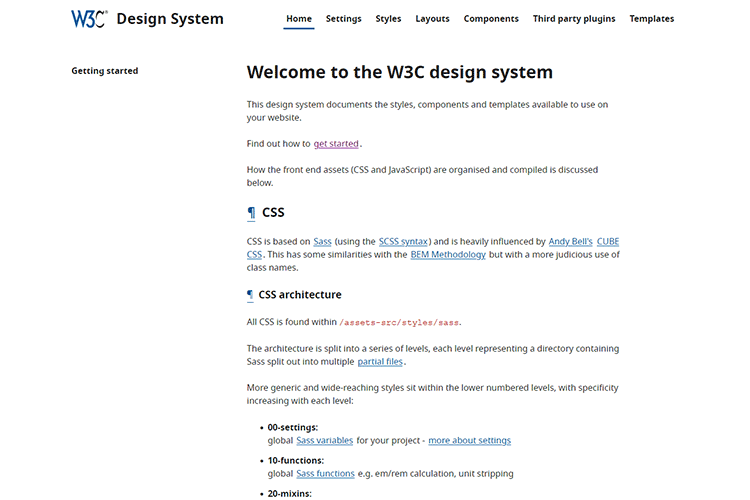Example from Welcome to the W3C design system