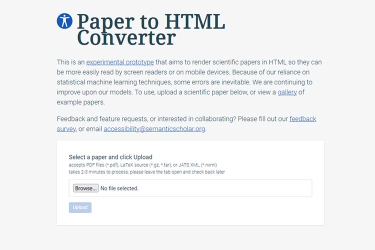 Example from Paper to HTML Converter