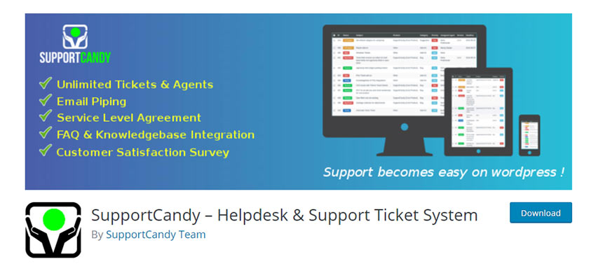 SupportCandy – Helpdesk & Support Ticket System