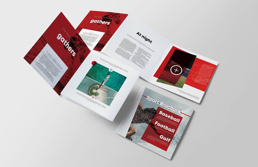 Sport Square brochure business template format