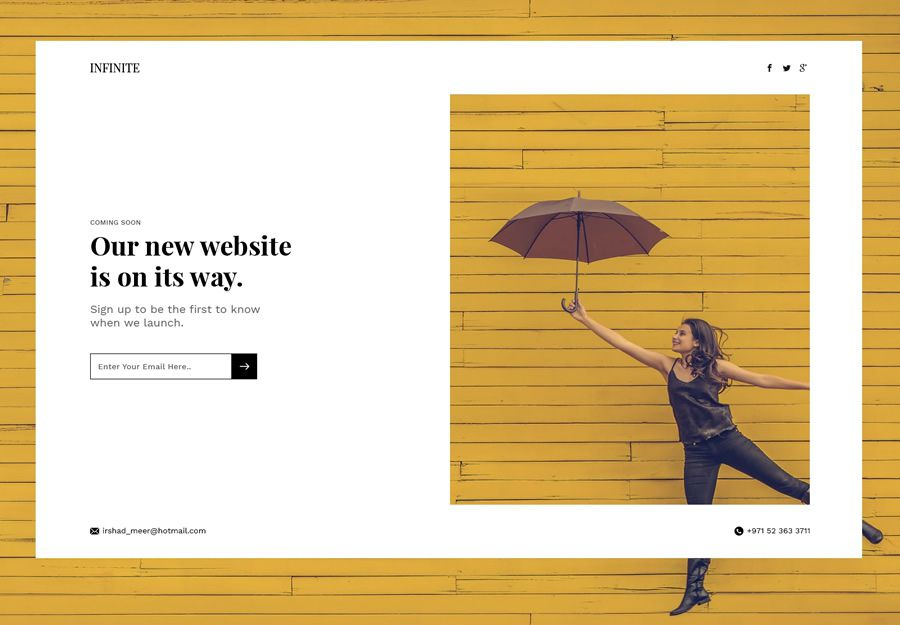 Hero Section coming soon page web design inspiration